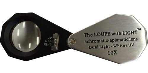 LED+UV付きルーペ